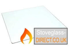 Green 8 (Rounded Corners) Stove Glass